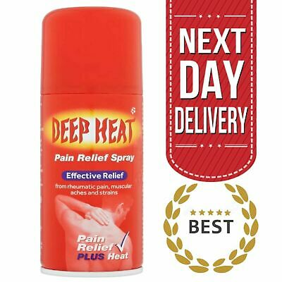 £5.99 • Buy Deep Heat Pain Relief Spray For Muscular Aches Sprains Or Strains - 150 Ml