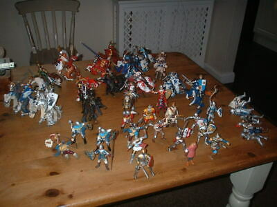 £49.99 • Buy Lot Schleich Papo 17 Knights On Horseback 18 Figures On Foot Plus Spares
