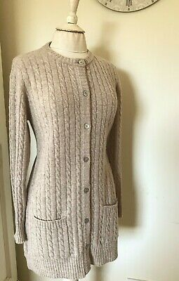 £17 • Buy Cotswold Collection Lambswool Cable Knit Cardigan With Pockets. Size  S/M. Beige