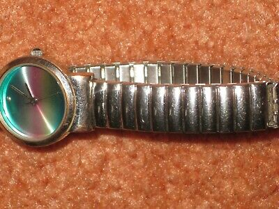 £1.50 • Buy Ladies 'new Look' Round Blue Face Watch With Chrome Elastic Strap/needs Battery