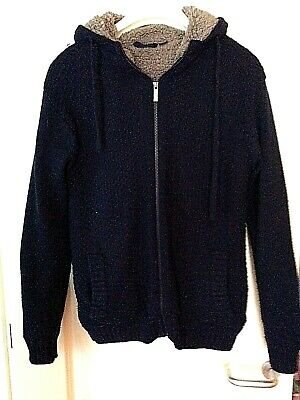 £5.50 • Buy Livergy Mens Fur Lined Soulcal Knitted Jacket Size Medium
