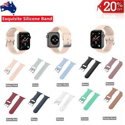 AU5.59 • Buy For Apple Watch IWatch Band Patterned Exquisite Silicone  Series 7 SE 6 5 4 3 2