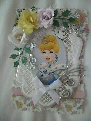 £1.10 • Buy Handmade Card Topper - Disneys Cinderella- Ideal For Birthdays & Other Occasions