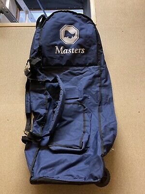£19.99 • Buy Masters Golf Club Bag Flight Cover With Wheels - Navy Blue - Lightly Used