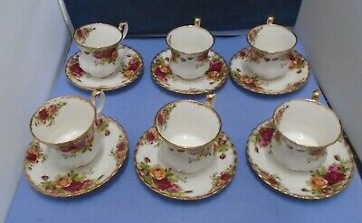 £18 • Buy Old Country Roses Royal Albert Bone China Set Of Six Tea Cups And Saucers