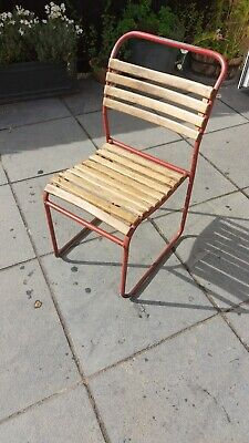 £30 • Buy Adult Size Vintage Retro French School Stacking Chairs Plywood 1950's 1960's