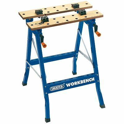 £46.10 • Buy PORTABLE FOLD DOWN WORKBENCH WITH CLAMPING VICE WORKMATE WORK BENCH 56X62X76cm