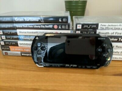 £33 • Buy Sony PSP-3000 64MB Piano Black Handheld System With 13 Games