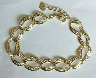 £185 • Buy 375 9ct Gold NEW Woman's Gorgeous Bracelet FULLY HALLMARKED 7.5-8.5  Long