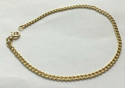 £50 • Buy 375 9ct Gold NEW Woman's Small Curb Bracelet 7.5  Long FULLY HALLMARKED