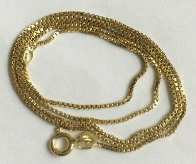£100 • Buy 375 9ct Gold NEW Woman's Small Square Link Necklace 18  Long FULLY HALLMARKED
