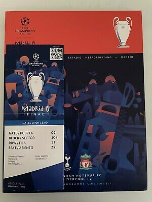 £54 • Buy 2019 European Champions League Final Ticket And Programme Liverpool V Spurs