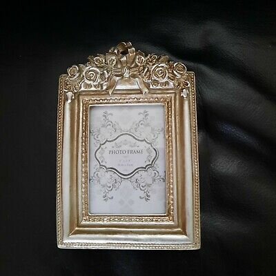 £5.99 • Buy SMALL Shabby Pewter Silver Photo Frame French Ornate Baroque Rococo Wedding Gift