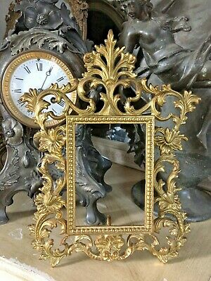 £38 • Buy Antique Ornate French Baroque Rococo Style Heavy Gilt Brass Photo Picture Frame