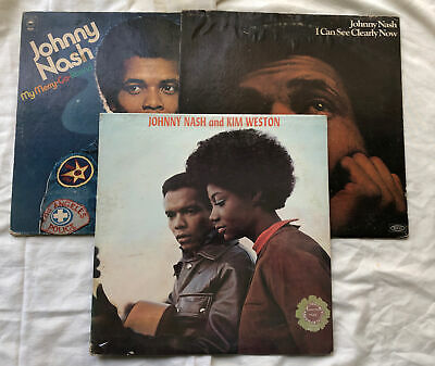 £7.46 • Buy Lot Of 3 Johnny Nash LP Vinyl Records And Kim Weston I Can See Clearly Now