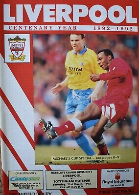 £2.99 • Buy Liverpool V Tottenham Hotspur Programme Division One 21-3-1992 EXC COND