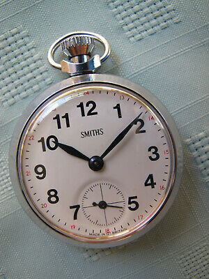 £13.06 • Buy VINTAGE BRITISH SMITHS CREAM DIAL POCKET WATCH C1974. MINT CONDITION CASE & DIAL