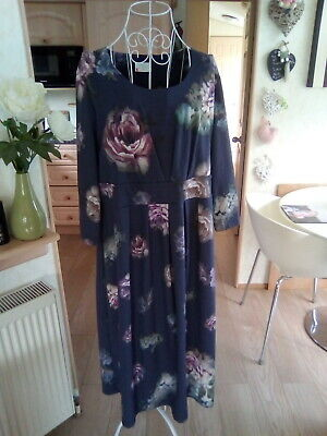 £3.50 • Buy Cotswold  Collection Purple Floral Soft Feel Dress 2xl