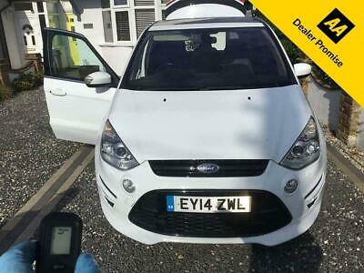 £12999 • Buy 2014 Ford S-MAX 2.0 TITANIUM X SPORT TDCI 5d 161 BHP IN WHITE WITH 63,000 MILES