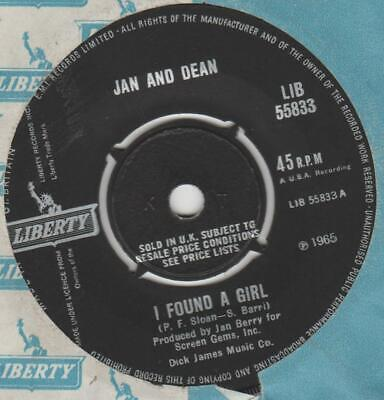 £1.51 • Buy Jan And Dean I Found A Girl Liberty LIB 55833 EX-