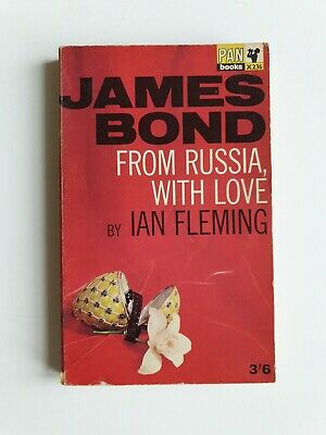 £12.95 • Buy Rare From Russia With Love Hawkey Ian Fleming Pan Books 1965 19th Print Bond