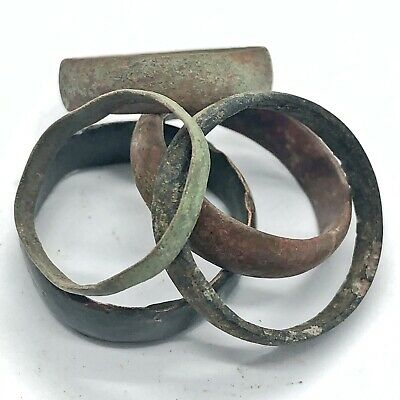 £11.28 • Buy 5 Authentic Ancient Or Medieval Wedding Band Ring Artifact Lot Roman Europe Old