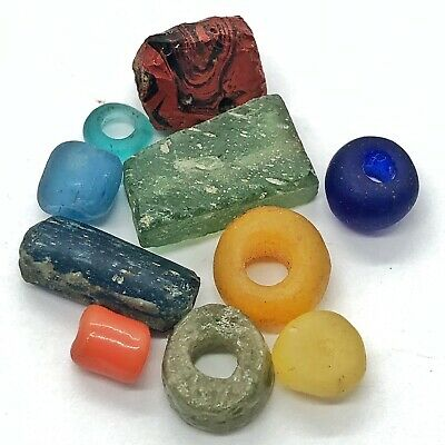 £10.88 • Buy 10 Ancient & Medieval Glass Beads Artifacts Antiquities Bible Roman Byzantine