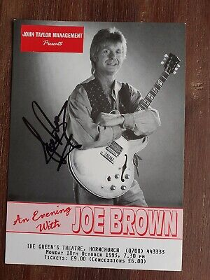 £11.99 • Buy Joe Brown  Picture Of You  Personally Signed Theatre Flyer
