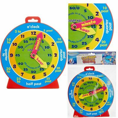 £4.49 • Buy TEACHING CLOCK Childrens Learn To Tell The Time Boys Girls Kids Educational Toy