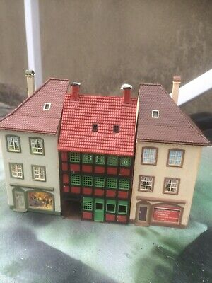 £9.99 • Buy  Ho Model Railway  2 End House /shops And Center Piece Vintage