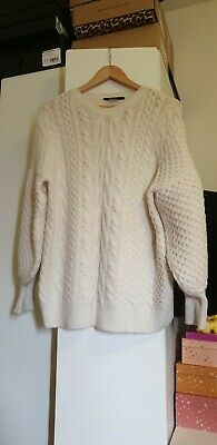 £10 • Buy F&F Oversized Cable Knit Jumper Size 10