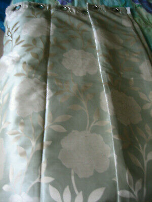 £4.95 • Buy Pair Montgomery Lucia Eyelet Curtains - 46  X 54  - New