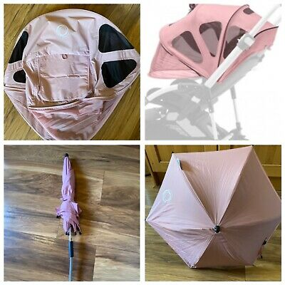 £40 • Buy Bugaboo Bee 5 Soft Pink Breezy Canopy And Parasol