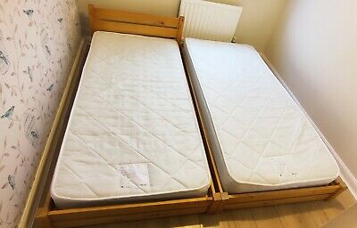 £60 • Buy John Lewis Solid Wood Truckle Bed, With 2 Mattresses.