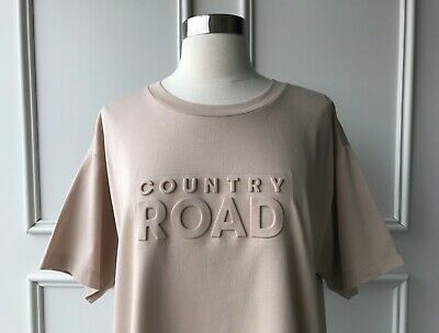 AU35 • Buy | COUNTRY ROAD | Modern Embossed Logo T-shirt Butterscotch | NEW | SIZE:XS,S,M,L