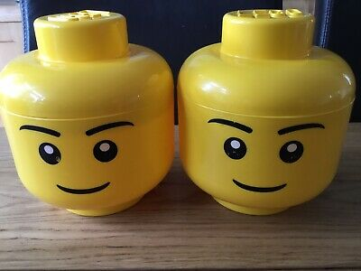 £16.95 • Buy Lego Small Yellow Storage Head 7 Inches High 6 Inch Wide X 2 (set 1)