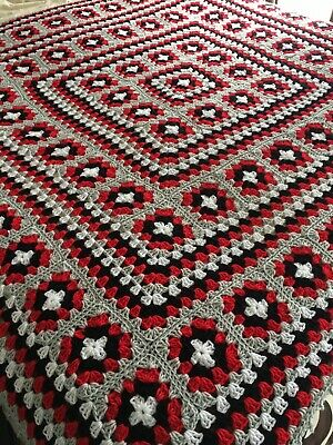 £40 • Buy New Handmade King Size Vintage Style Crocheted Granny Blanket 68 Inches Squared