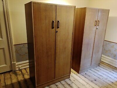 £35 • Buy Beautiful Pair His And Hers G PLAN Teak Wardrobes E.Gomme High Wycombe Make