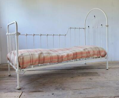£189 • Buy Antique French Wrought Iron Cot; Bed, Sofa, Garden Bench, Daybed