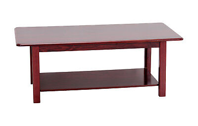 £84.99 • Buy Queen Anne Mahogany Coffee Table Traditional Design Rectangle Top Shelf