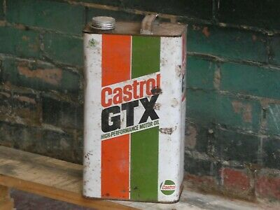 £12 • Buy Castrol Gtx Vintage Oil Can Used Condition Ideal For Display In Man/ Woman Cave