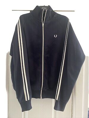 £25 • Buy Fred Perry Twin Taped Track Jacket - L Vintage Mod Scooter Top Navy