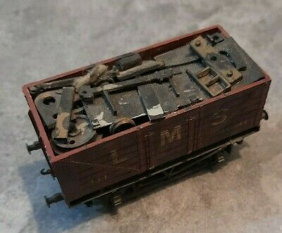 £0.99 • Buy Trix Oo Gauge LMS Wagon Heavy Weathered With Load See Photos