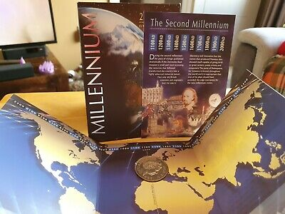 £11 • Buy 2000 1999 Dated Millennium Bu Five 5 Pound Coin Royal Mint Pack