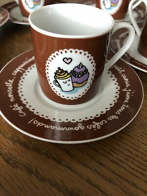 £7 • Buy Tea Set ,espresso Cups And Saucers , Set Of 6 By Valerie Nylin, Coffee Cups ,