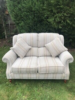 £295 • Buy Parker Knoll Henley 2 Seater Sofa With Cushions Harris Caramel Stripe
