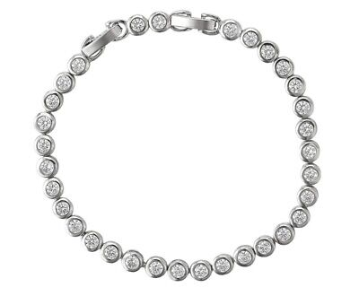 £12.99 • Buy Tennis Bracelet Made With Swarovski® Elements By AT Jewellery