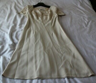 £45 • Buy Ladies Suit. Dress And Coat. Beige Colour. Embroidery And Beads Feature. Size 12