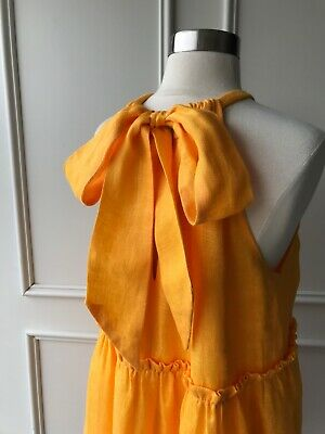 AU89.95 • Buy   COUNTRY ROAD   Crinkle Tiered Mini Dress Turmeric   NEW   $159   SIZE: 14,16  