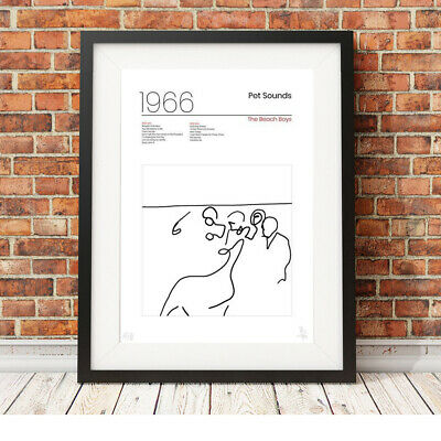 £9.95 • Buy The Beach Boys ❤ Pet Sounds ❤ 1966 Minimalist Poster Art Limited Edition Print